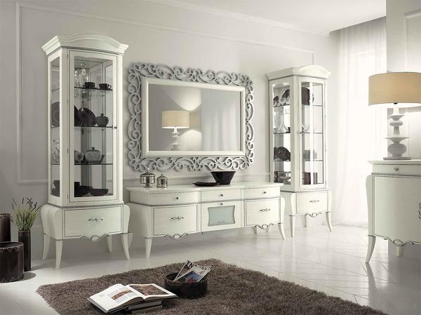 Pareti attrezzate classiche cat c4 home arredamenti cosenza - Mobili pareti attrezzate classiche ...