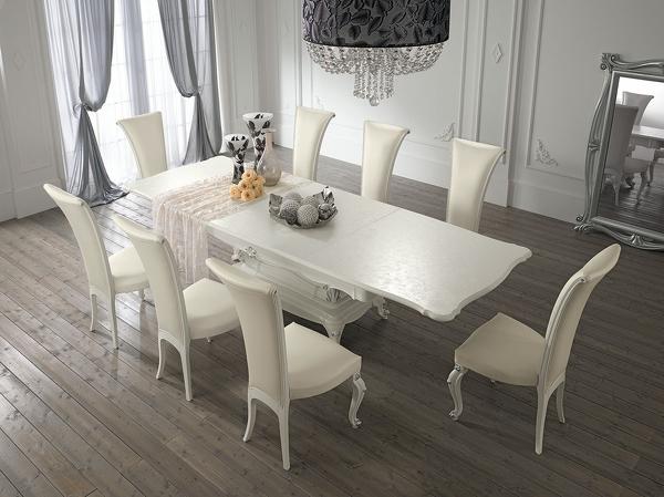 Sedie da soggiorno moderne top vidaxl set sedie da pranzo for Tavoli bianchi moderni