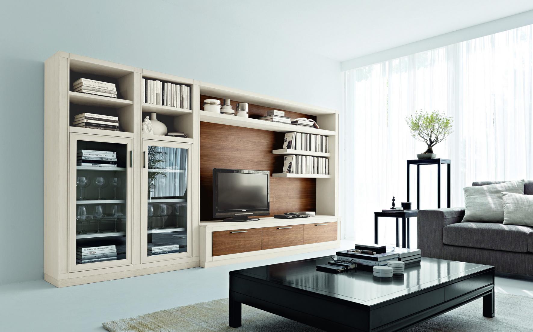 Parete attrezzata moderna lf10059 c4 home arredamenti for Parete decorata moderna